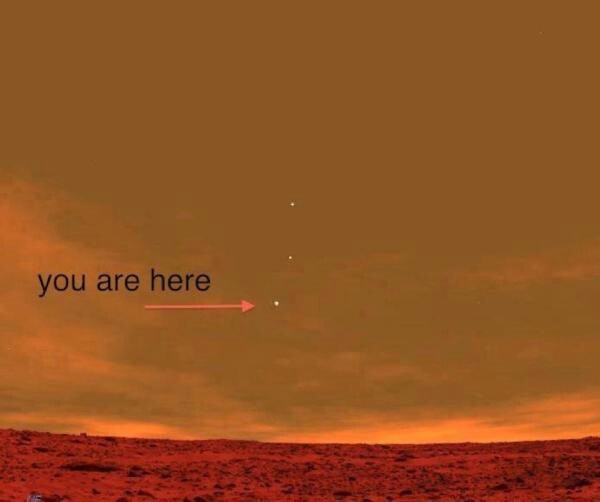 View of earth from Mars   Things   Pinterest