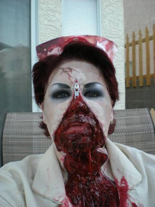 Zombie Makeup Tutorial (pic heavy and bloody!!) NEW UPDATES 2012 !!!! - OCCASIONS AND HOLIDAYS