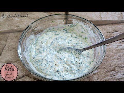 DIP CZOSNKOWO KOPERKOWY | rita food channel - YouTube