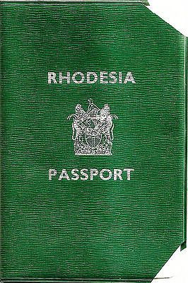 Rhodesia 1972 passport (Cancelled  Expired)