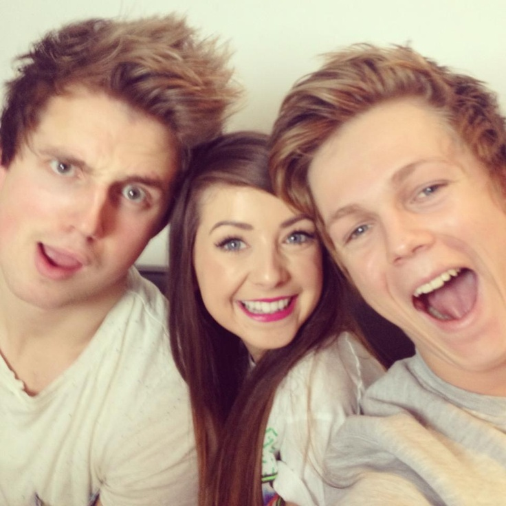 Marcus, Zoella, and Caspar! ❤