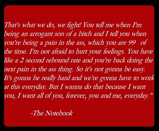 #Love #Notebook #Movie Quotes