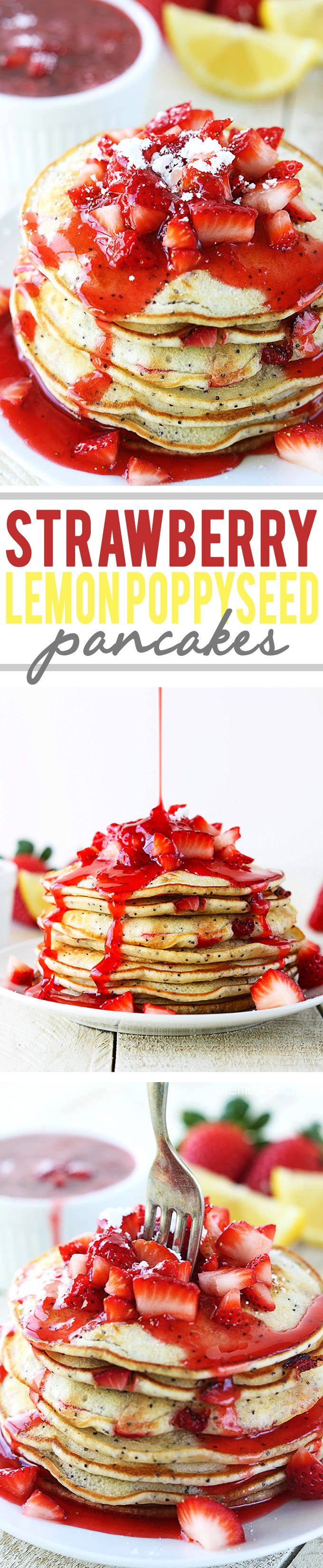 Strawberry & Lemon Poppyseed Pancakes