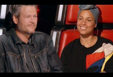 Alicia Keys goes head to head with Blake Shelton in The Voice