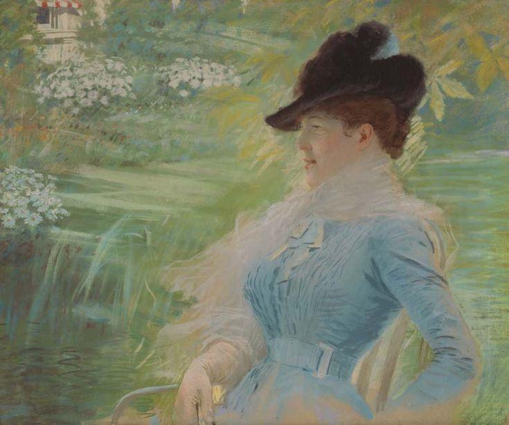Giuseppe De Nittis, signora in giardino