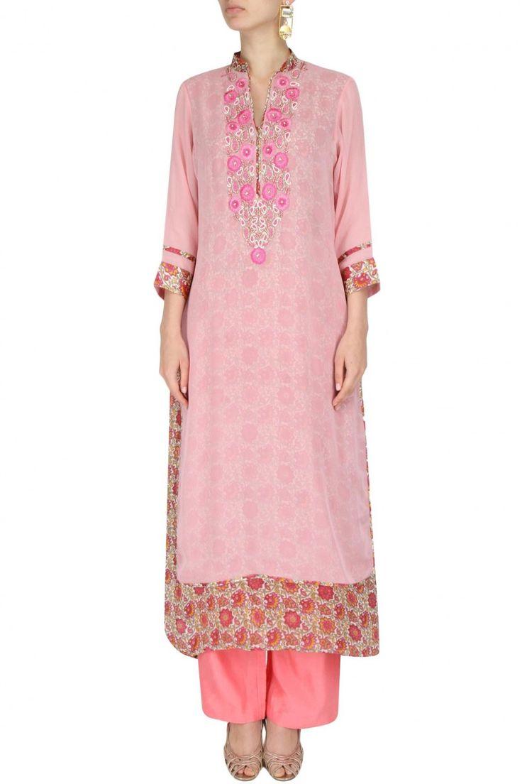 #unique #simple #classy #tunics #intricatelyembroided #handembroideries #doublelayering #wearitinstyle #formalwear #labelsurabhiarya #gurgaon #delhi