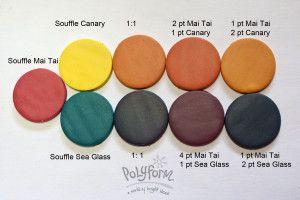 Mai Tai, Canary, & Sea Glass color recipes by Syndee Holt