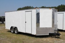 NEW 8.5 X 16 8.5X16 ENCLOSED CARGO CAR HAULER TRAILER - V-NOSEapply now www.bncfin.com/apply