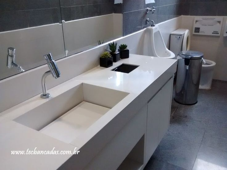Cubas, lavatórios e tampo de porcelanato | Tec Bancadas
