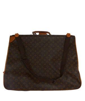 Louis Vuitton Vintage Monogram Coated Canvas Large Luggage Suitcase (17678) Brown Travel Bag.