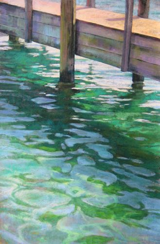 Pastel Paintings of Water Reflections by Jill Stefani Wagner.