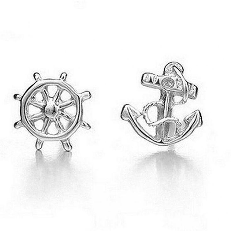Marine anchor earrings feng shui boutique handmade earrings wholesale fine female high brightness-in Stud Earrings from Jewelry & Accessories on Aliexpress.com   Alibaba Group