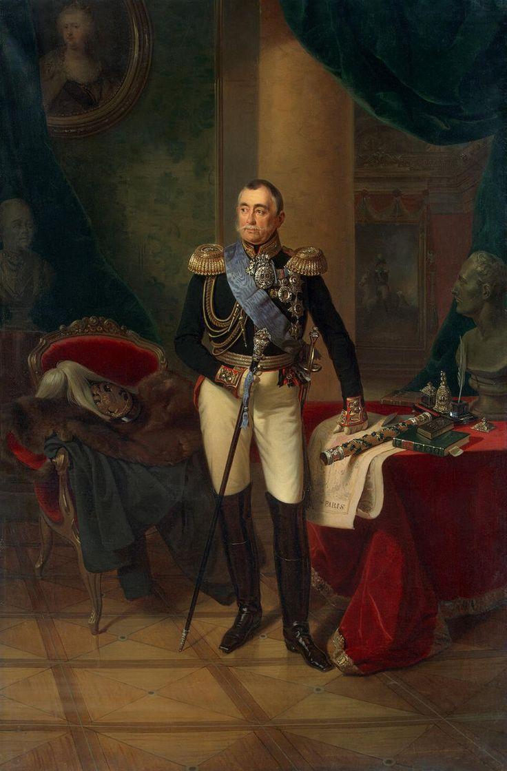 Le prince Pyotr Volkonsky (1850, Musée de l'Ermitage, Saint-Pétersbourg) de Franz Kruger (1797-1857)