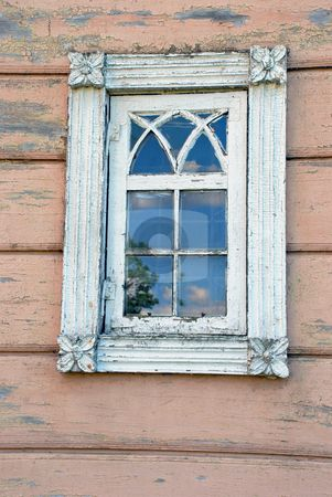 Old Chippy Window... Do molding around. Use window makers to do center designs.