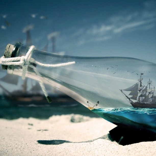 Pirates Of The Caribbean Wallpaper Hd: Ship In A Bottle