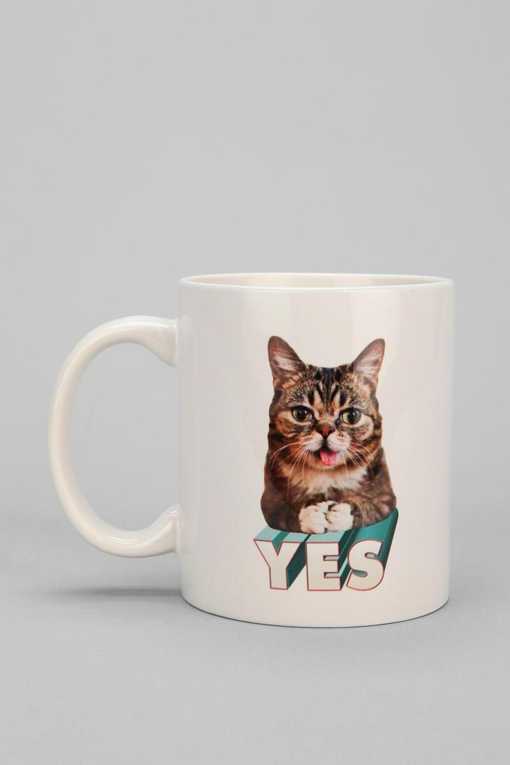 Lil BUB mug to motivtate you with one word. #catober