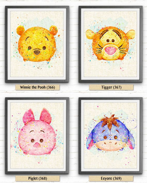 Winnie the Pooh Print Disney Watercolor Painting par NeighborArts
