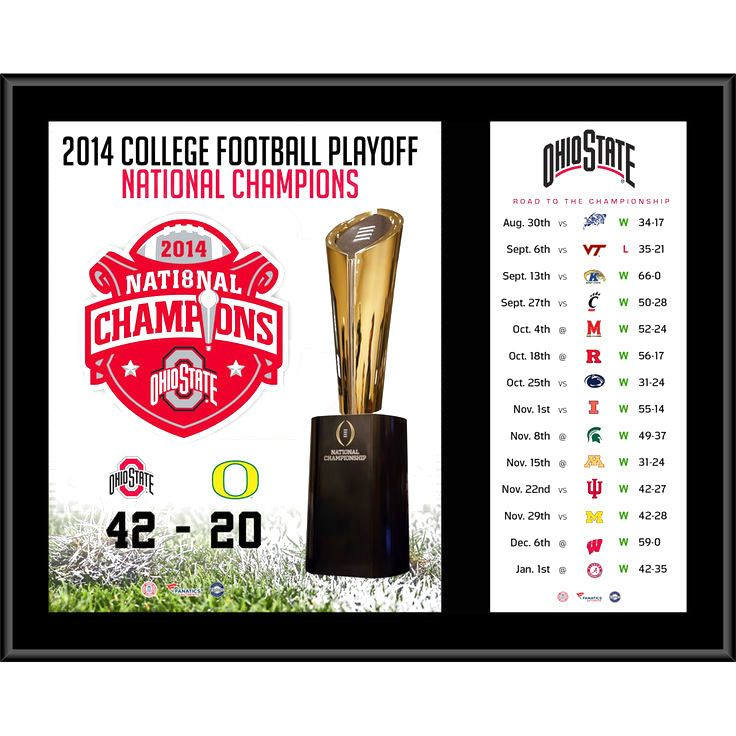 """Ohio State Buckeyes Fanatics Authentic 12"""" x 15"""" 2014 College Football Playoff National Champions Sublimated Plaque - $31.99"""
