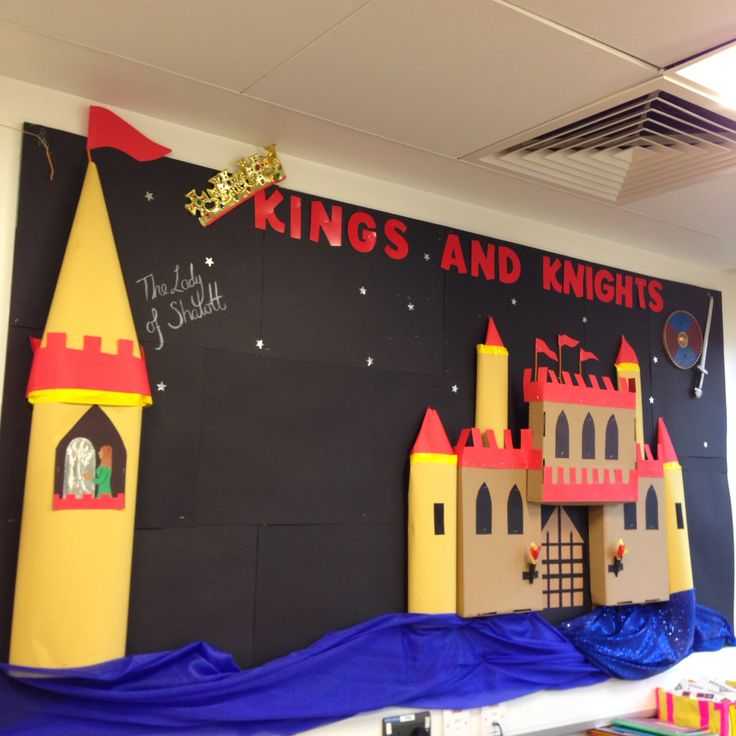 Castle 'Kings and Knights' classroom display - The Lady of Shalott