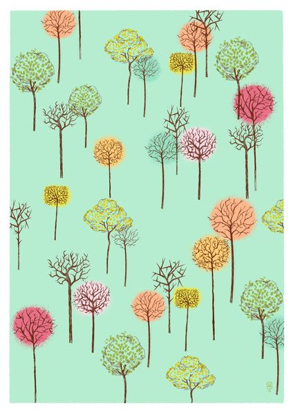 pretty trees Art Print