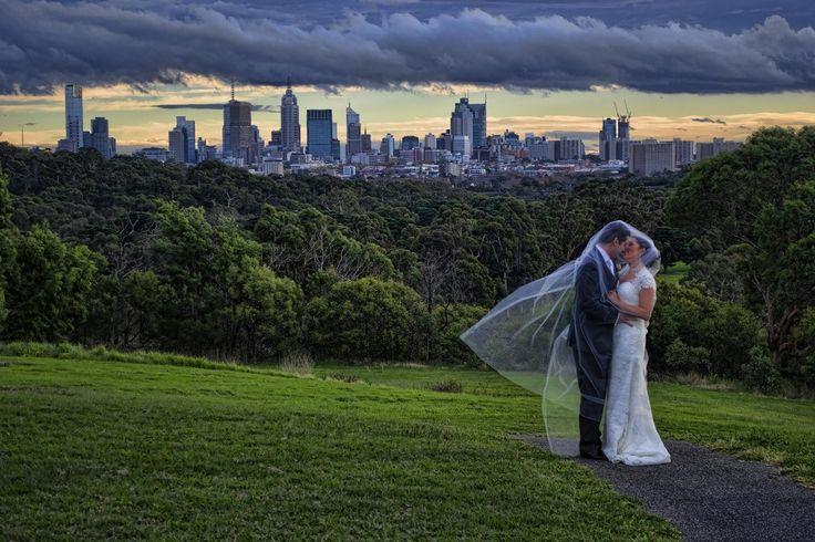 Melbourne City makes a good wedding backdrop.