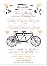 Image result for bicycle wedding invite