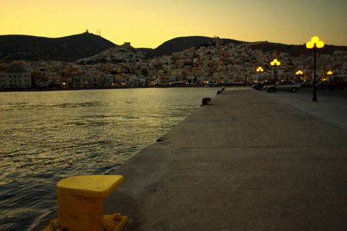 Ermoupolis - Syros island ~ {Promenade at dusk} #syros