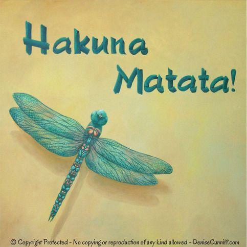 Hakuna Matata Bedroom Decor Boys Girls Nursery Art Teal Turquoise Yellow Laundry Room Dragonfly Canvas Artwork