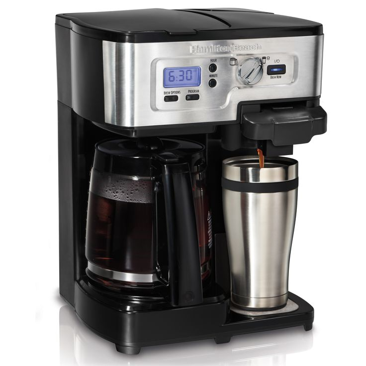 Hamilton Beach 49984C  Programmable FlexBrew coffee maker compatible with K-Cups