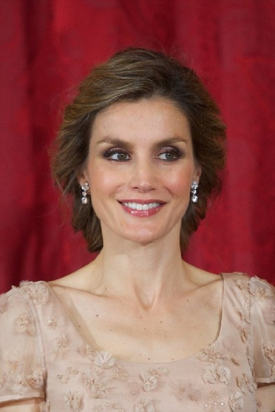 Princess Letizia of Spain attends a Gala Dinner at the Royal Palace on 12 June 2013