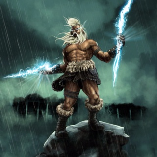 Zeus Greek God of the sky and King of the Gods.