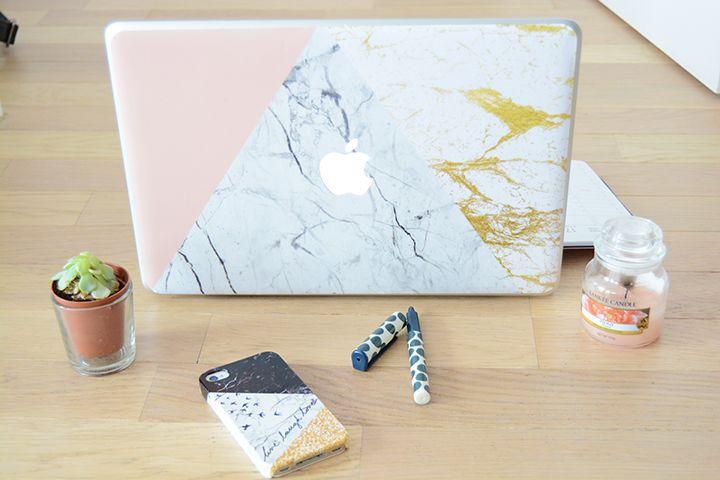 Skin personnalisée effet marbre pour Mac Book - CASE APP