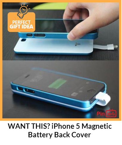 Want this? Called an iPhone 5 Magnetic Battery Back Cover that uses magnetic adsorption technology to add a battery to your iPhone 5. Becomes a back cover for your iPhone 5, too. Also can be used as an emergency battery for your iPad 4 / iPad Mini / iPod Touch 5th / iPod Nano 7th. This accessory is compatible with: - iPhone 5 - iPad 4 (only for charging) - iPad Mini (only for charging) - iPod Touch 5th (only for charging) - iPod Nano 7th (only for charging) Check out at…