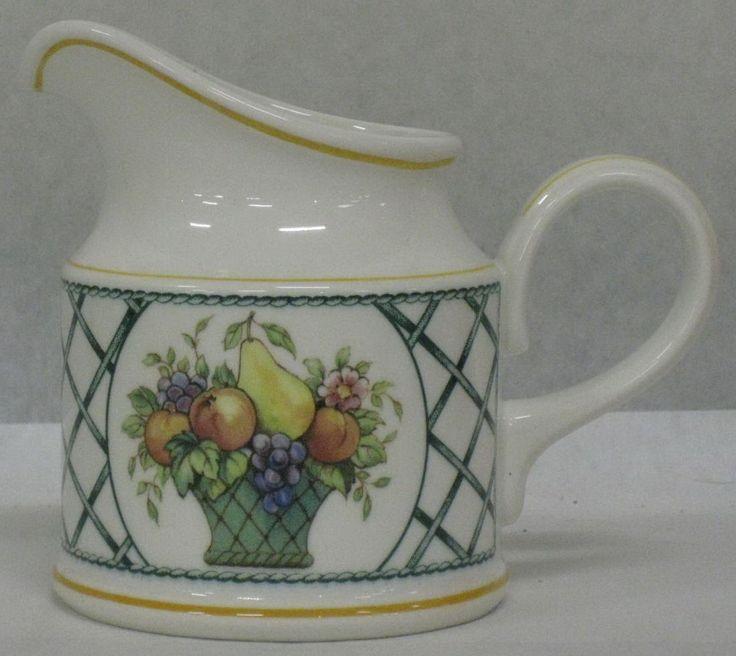 VILLEROY & BOCH FRUIT BASKET CREAM/CREAMER-ANNO 1748 GERMANY