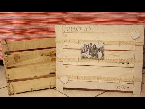 Bacheca portaFOTO fai da te- Riciclo Creativo - YouTube