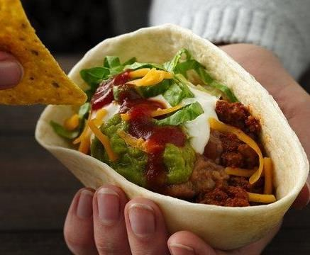 Seven Layer Stand 'N Stuff Tacos