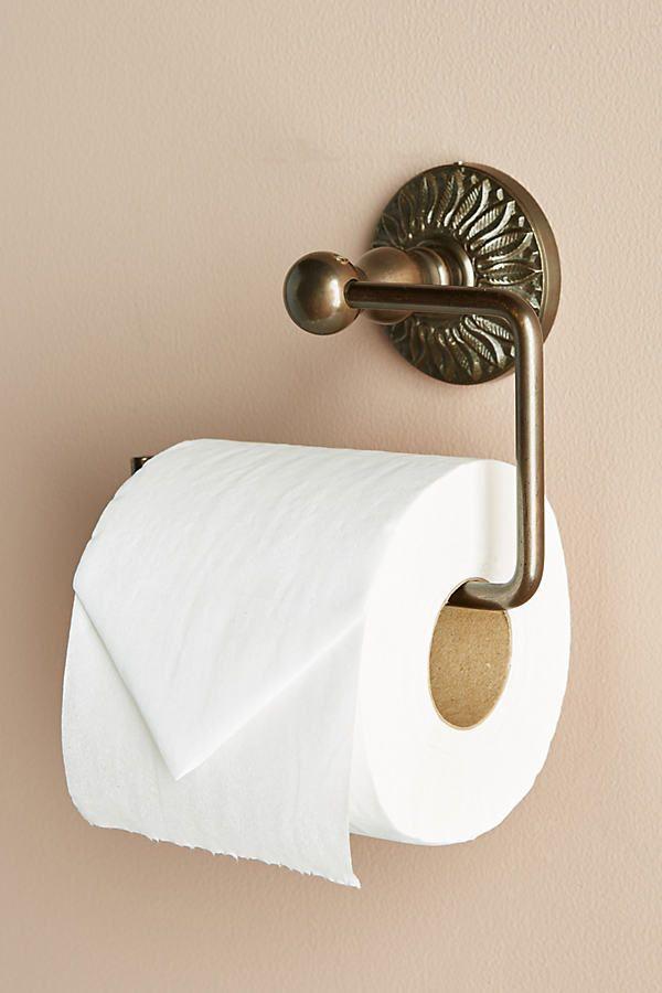 Floral Imprint Toilet Paper Holder Toilet Paper Holder Decorative Storage Toilet Decoration