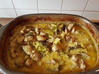 Curry Geschnetzeltes mit Brokkoli aus dem Ofenmeister