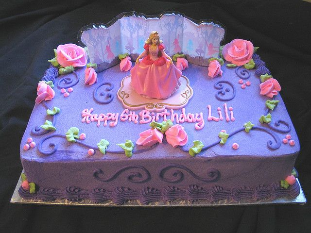 Birthday Cake Designs Barbie : princess barbie sheet cake Cake ideas Pinterest ...