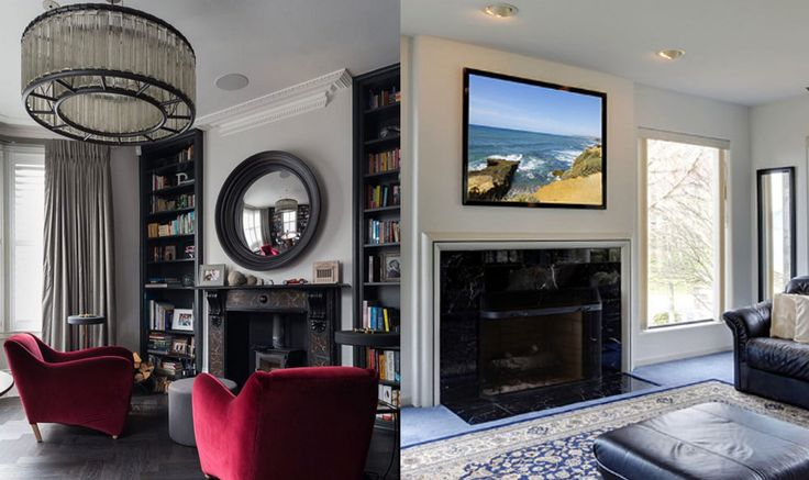 What is your opinion?   Do televisions kill the spirit of a fireplace?  VOTE NOW - SHARE NOW