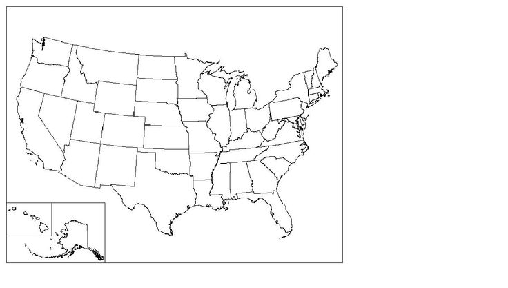 Blank Us Map Pdf Blank Map Of The United States Printable USA Map - Printable blank us map