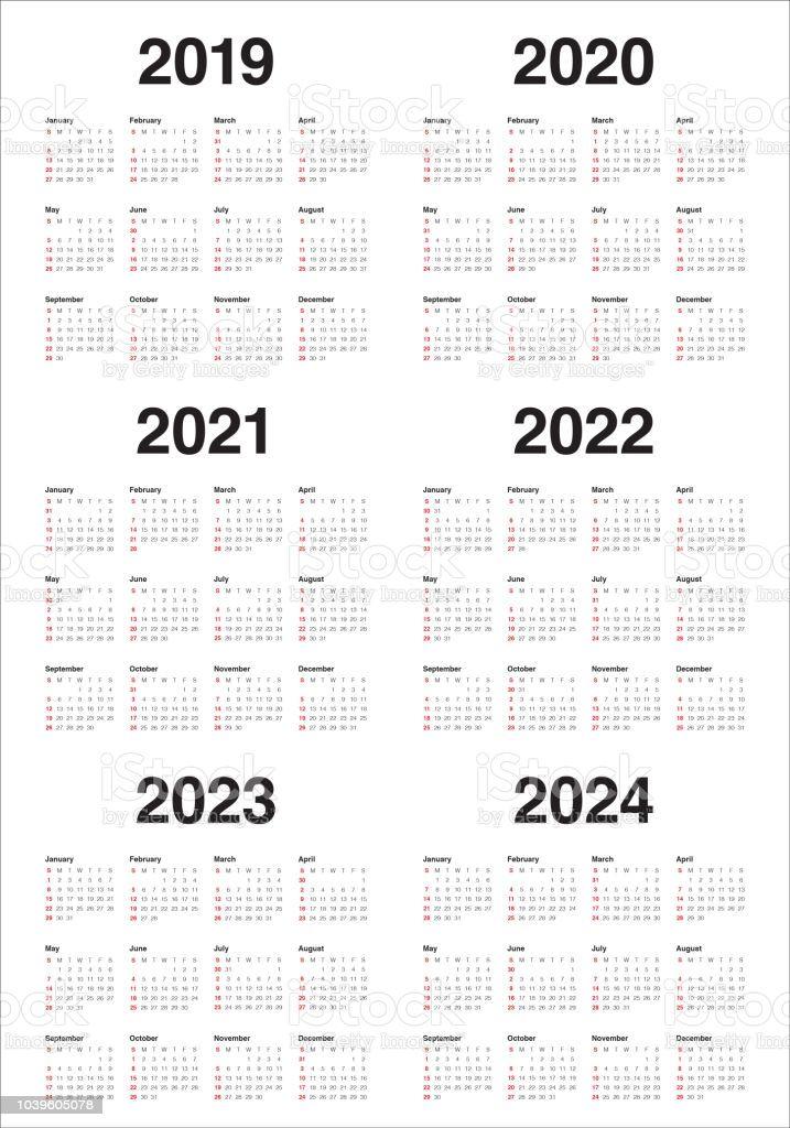 Uri Calendar 2022.4 Year Calendar 2019 To 2022 Printable Di 2021