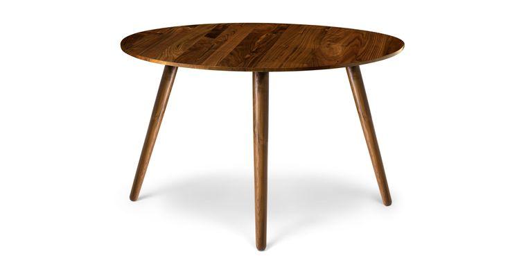 Seno Walnut Round Dining Table