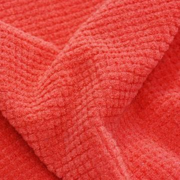 Insulation Jacquard Fleece Fabric, Made of 93% Polyester and 7% Spandex