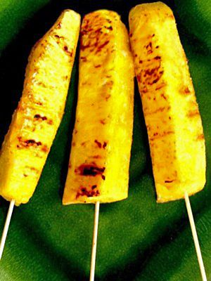 "This grilled pineapple is super-delicious, yet also light and healthy, which makes it the perfect dessert to serve after a heavy barbecue. Grilled Pineapple is naturally good on its own, but add my Thai flavorings and you have an incredible taste sensation! Unlike most recipes for grilled pineapple, this one is made into what I call ""pineapple pops"", so it's easy to eat. Try this grilled pineapple - it makes a beautiful dessert to serve, and it's truly fanastic to eat!: Serve Your Grilled…"