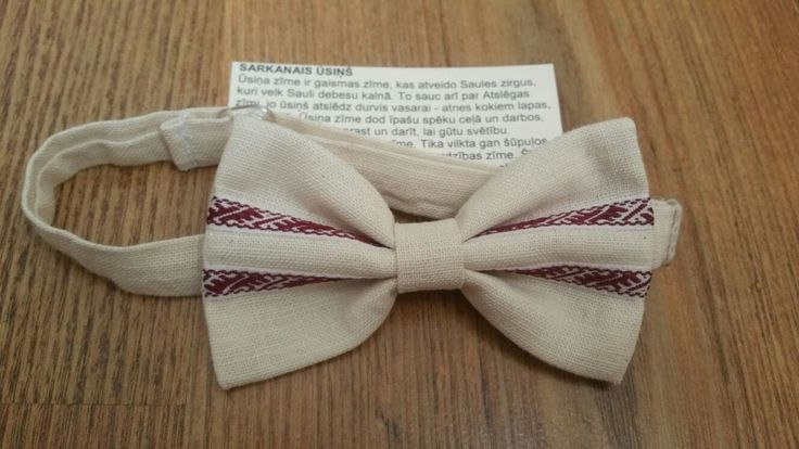 Bow tie with a traditional motif