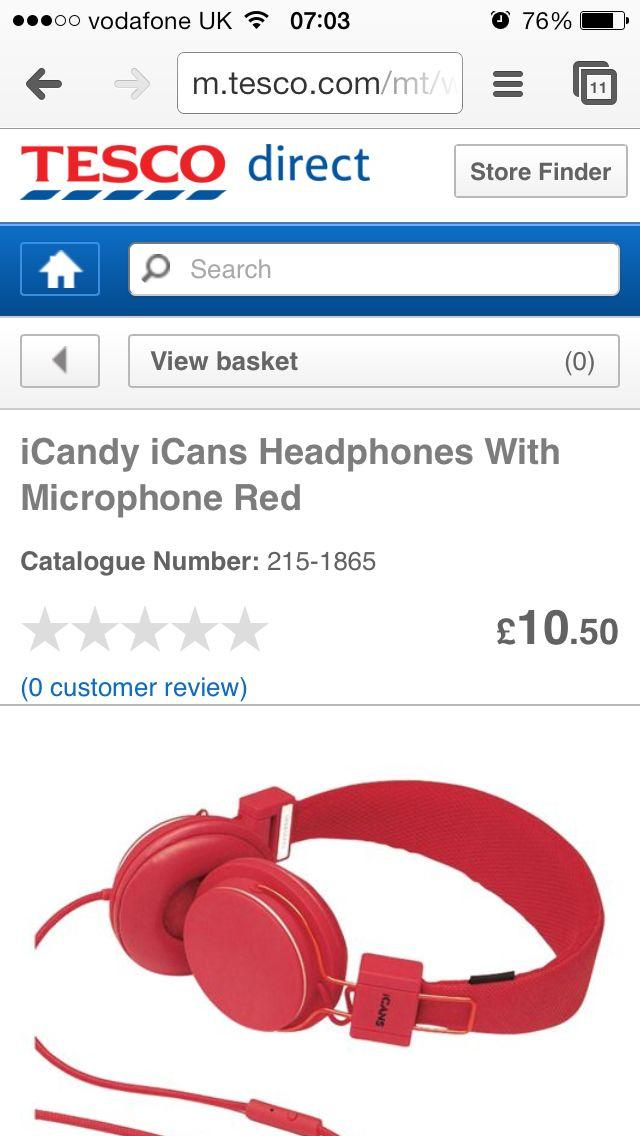 Red over-head earphones for kids