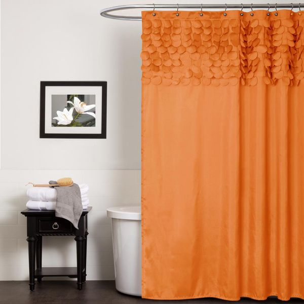 Lush Decor Lillian Orange Shower Curtain   Overstock Shopping   Great Deals  on Lush Decor ShowerMer enn 25 bra ideer om Orange shower curtains p  Pinterest  . Orange And Black Shower Curtain. Home Design Ideas