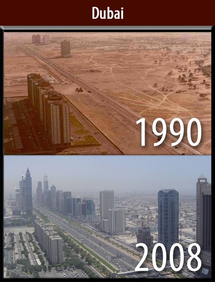Dubai Before & After in 18 years | technology