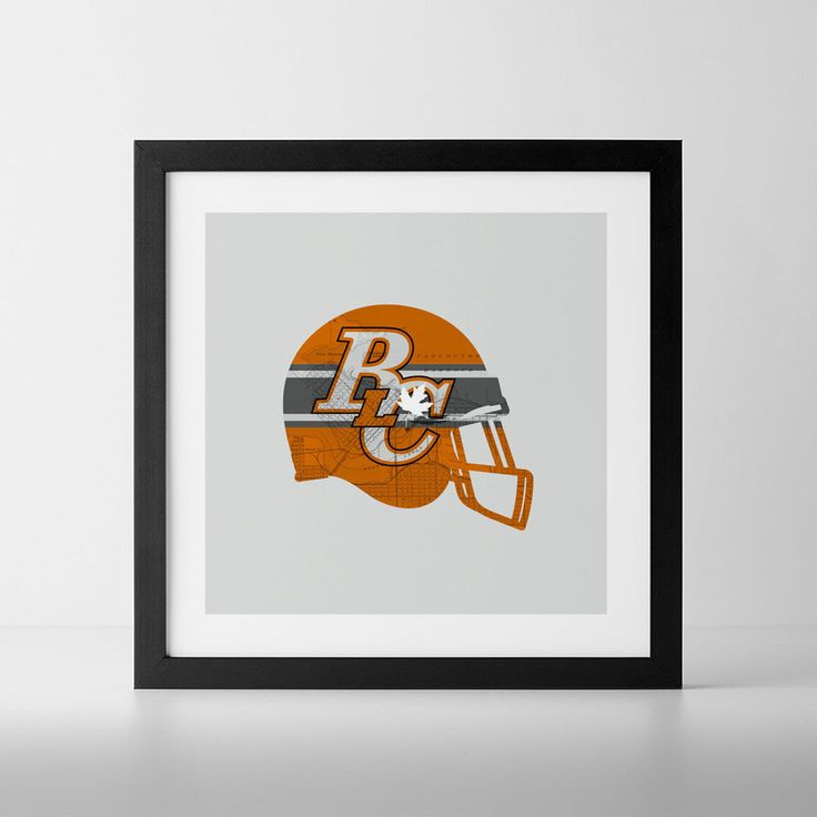 BC Lions-Inspired Football Art Print from ManMade Art